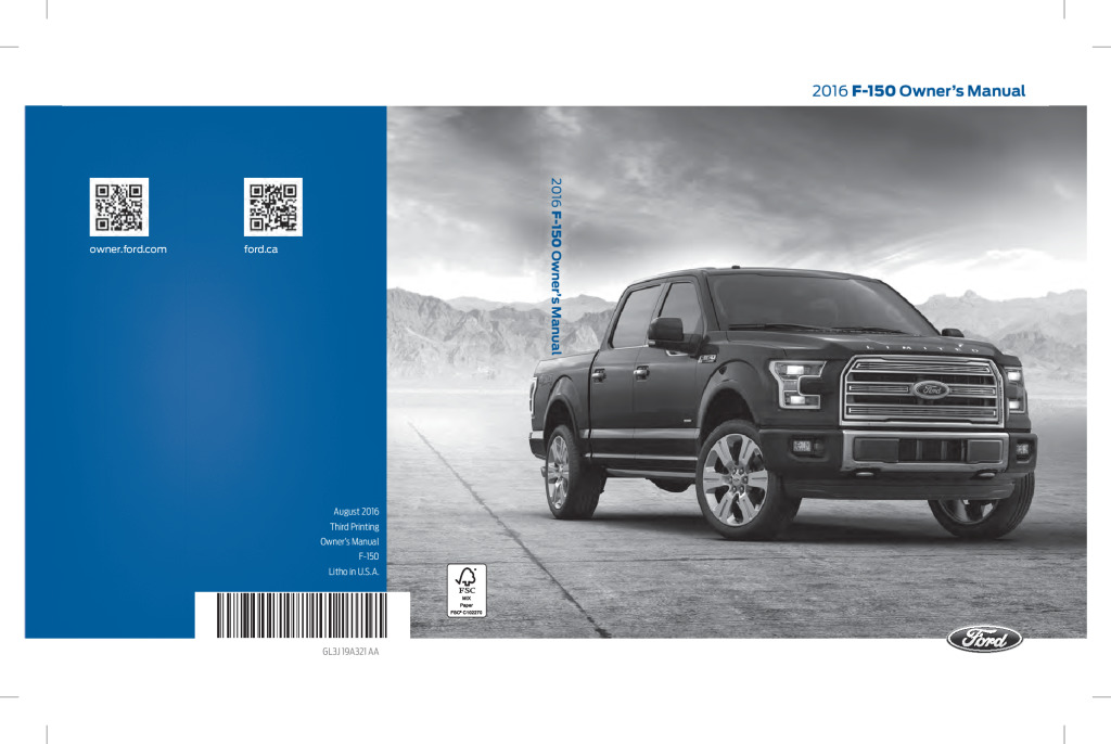 thumbnail of 2016 FORD F-150 OWNER MANUAL
