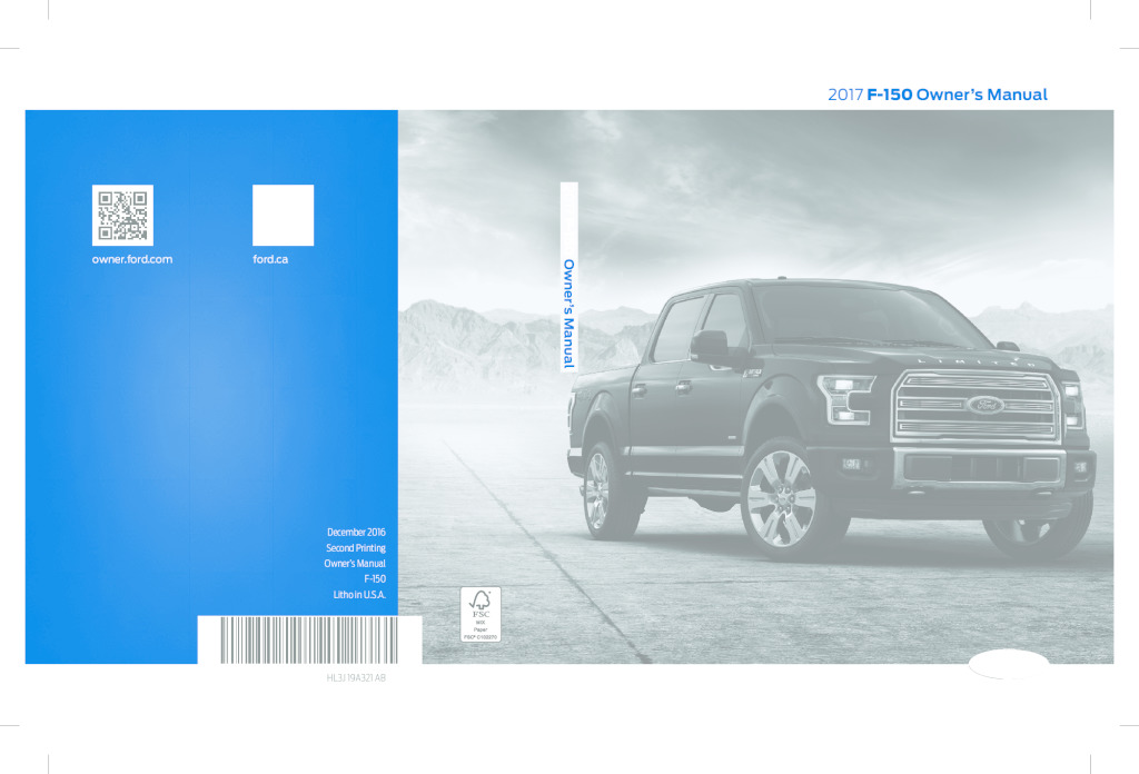 thumbnail of 2017 FORD F-150 OWNER MANUAL